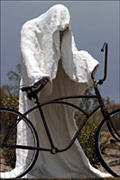 ghost and bicycle