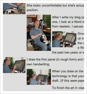 The process of creating a Dilbert comic