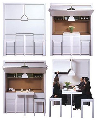 fold-away kitchen