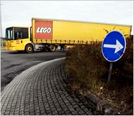 Lego pieces are made in Denmark?