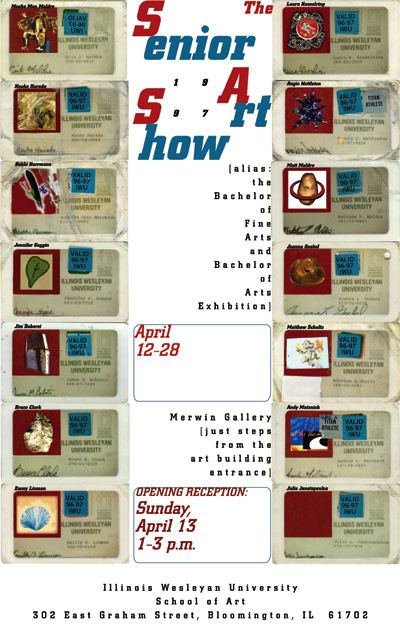 1997 Illinois Wesleyan School of Art show poster