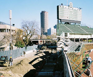 Wrigley Field construction photos
