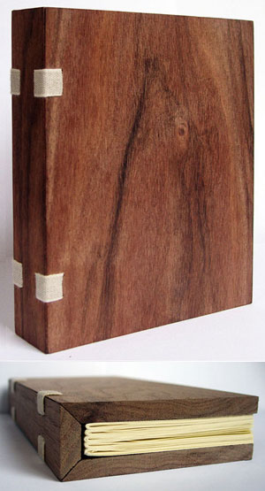 beautiful wood notebook