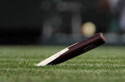 player stabbed by flying broken bat