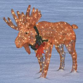 life-size Christmas lights moose