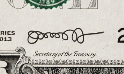 best ever signature on U.S. dollar bills