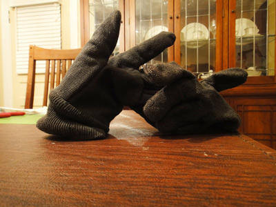 Dada glove art installation
