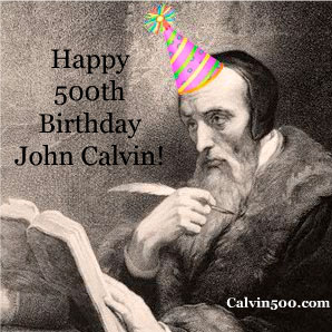 John Calvin's birthday party hat