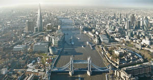 aerial photo of London's The Shard