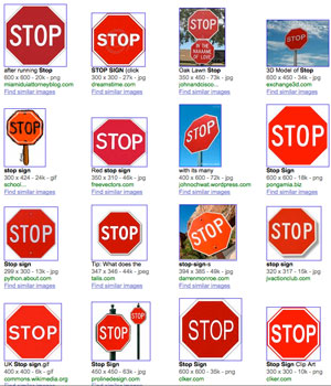 stop sign font