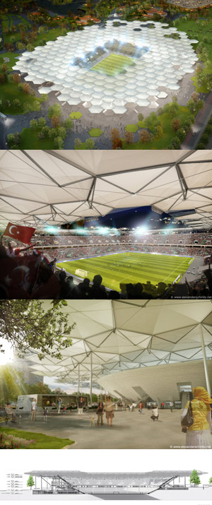 cool soccer stadium