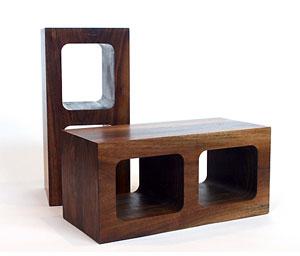 wood cinder block