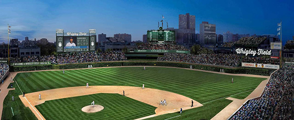 How the advertising will really appear in Wrigley Field's outfield and Jumbotron